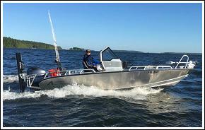 Vi fiskar från en ny specialbyggd Anytec 622 SPF